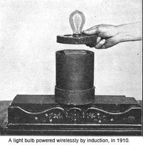 Light bulb induction